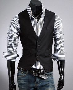 New Years 2014 - Fashion Classic Stylelish Gentleman Mens Vest Custom made  1011. 051b861c8d
