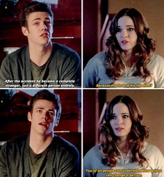 """#TheFlash 1x19 """"Who is Harrison Wells"""" - Barry and Catlin"""