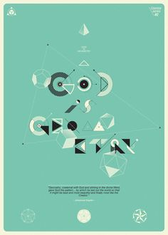 """Cosmos Series """"God is Geometry"""" This is a new poster series (three versions of x Inspired by the book named """"Cosmos"""", written by the great astronomer, astrophisicist, cosmologist, author and science popularizer: Carl Edward Sagan Typography Served, Typography Letters, Typography Design, Lettering, Graphic Design Illustration, Illustration Art, Illustrations, Circle Square Triangle, Communication Art"""