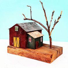 house miniature wood house tiny house driftwood art