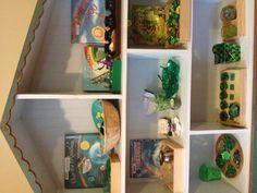 St.Patrick's Day Montessori Preschool shelves work