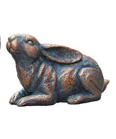 Love this Resin Crouching Rabbit Figurine on #zulily! #zulilyfinds