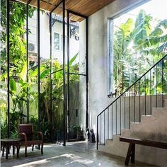Concrete, glass and sunshine - a winning combination #interiordesign #moderninteriors #decor