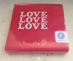 """Fun cocktail napkins for engagement parties, valentines day parties, wedding parties, and """"love love"""" parties!!"""