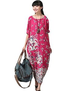 Minibee Women's Summer Maxi Dress,Dragon Print Pattern,Long Gown (Rose) Minibee http://www.amazon.com/dp/B013QL5GOO/ref=cm_sw_r_pi_dp_wus4vb0A92JK9