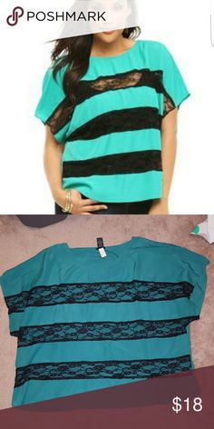 SEXY TORRID TOP Super sexy and feminine top from torrid sz 3 (3x). Top worn twice, still in amazing shape!! This is a really gorgeous top, a must have!! torrid Tops Blouses
