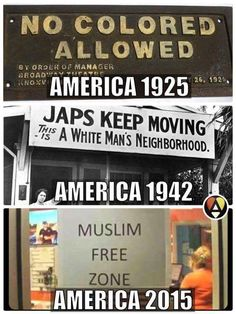 America 1925, 1942 and 2015