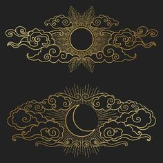 Cloudy Heart Sun Moon Vector Illustration Stock Vector (Royalty Free) 795807526 - Sun and moon in the cloudy sky. Decorative graphic design elements in oriental style. Vector hand d - Moon Vector, Vector Art, Art Design, Design Elements, Moon Design, Creative Design, Design Ideas, Tattoo Sonne Mond, Poster Designs