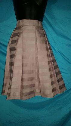 Raw silk pleated skirt!