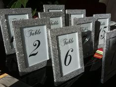 Set of 1 5 x 7 Frames in Silver Rhinestone and 1 Table  by ModMV, $9.00