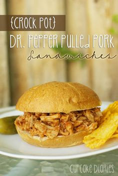 {Crock Pot} Dr. Pepper Pulled Pork Sandwiches. two of my favorite things combined into one delicious sandwich??? i need a crockpot!