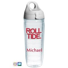 Roll Tide Personalized Tervis Water Bottle. I NEED that.