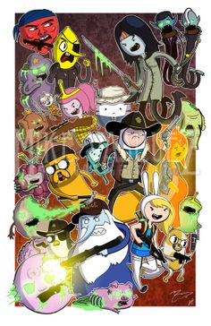 Deadventure Time (The Walking Dead & Adventure Time Crossover) Full Color 11 x 17 Print