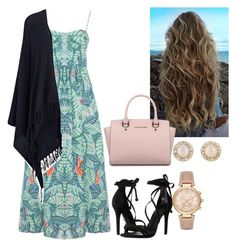 Day Out With The Girls.. by emily-ortiz on Polyvore featuring polyvore, fashion, style, Mara Hoffman, Joseph, Schutz, Michael Kors, Kate Spade and clothing