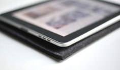 Byrd + Belle - wool felt sleeves for all your cool devices.  Made in MN - MWIB.  #ipad #computers #laptop #wool #felt #gifts #guys