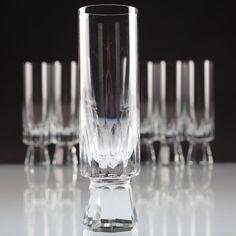 6 Vintage Sektgläser Sektkelche Friedrich Glas Stella Sektglas ~ 60er Jahre W4C