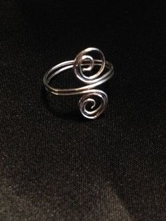 Spiral Wire Knuckle Ring by DelainasDesignShop on Etsy