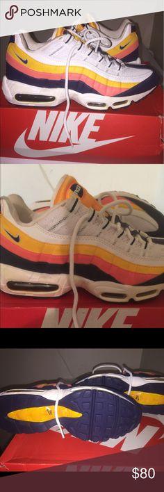 Men's Air Max 95 sz 8.5 White /blue/orange Brand new Men's Air Max 95 sz 8.5 White /blue/orange Nike Shoes Sneakers