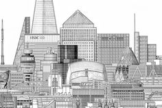 Towers Of London: City's Tallest Buildings In One Lofty Drawing | Londonist