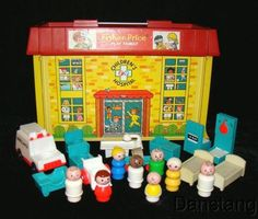 Fisher Price Little People Hospital-we had this and stupidly sold it at our yard sale while still kids.  Ours was the only one I've ever seen.