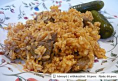 . Hungarian Cuisine, Hungarian Recipes, Hungarian Food, What To Cook, Meat Recipes, Fried Rice, Delish, Side Dishes, Nasi Goreng
