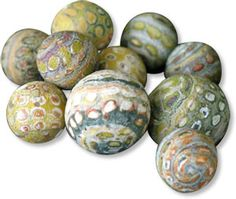 Grunge beads | Polymer Clay Daily