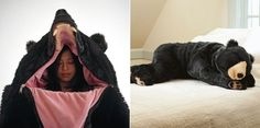 Comfy Sleeping Bag That Looks Just Like A Life-Sized Bear