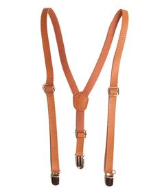 Tan Faux Leather Suspenders by Trendy Ties #zulily #zulilyfinds