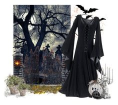 """""""Halloween"""" by mia-de-neef ❤ liked on Polyvore featuring art"""