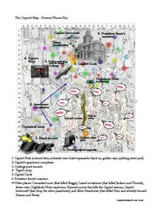 Map of Panem: the Capitol Activity (featured in my Mockingjay Novel Teaching Unit)
