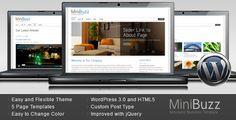MiniBuzz - Minimalist Business WordPress Theme - ThemeForest Item for Sale