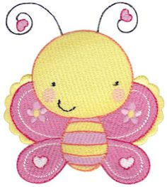 Cuddle Bug filled stitch embroidery designs at Bunnycup Embroidery at http://www.bunnycup.com/embroidery/design/CuddleBug