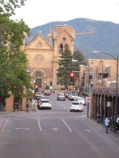 Downtown Santa Fe, NM.