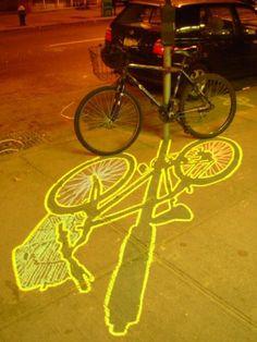 Ellis Gallagher – ephemeral graffiti from chalk outlined shadows