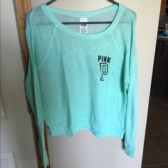 Mint Long Sleeve PINK VS Shirt, very light & comfortable PINK Victoria's Secret Tops Tees - Long Sleeve