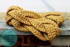 New  The Meredith Braided Infinity Scarf in Mustard by TwigsandCottonSask