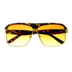 Sleek Trendy Celebrity Fashion Square Aviator Sunglasses Shades A1810