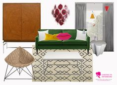 happy lady decorates: Decorating with a Green Sofa