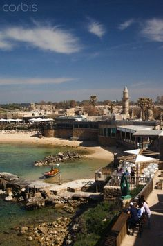 Caesarea, Yisra'el, North Coast ~ Ruins of port built by Herod the Great in 22 bc.