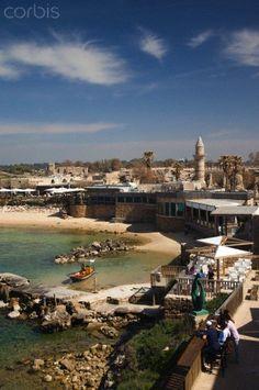 Caesarea, Yisra'el, North Coast ~ Ruins of port built by Herod the Great in 22 bc.