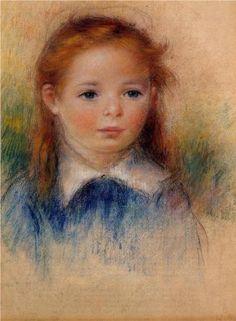 Portrait of a Little Girl - Pierre-Auguste Renoir
