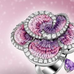 Sicis Jewels & Watches (@sicisjewels) on Instagram: Purple Carpet ring with precious micromosaic and diamonds.