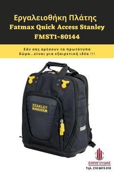 Εργαλειοθήκες πλάτης Fatmax Quick Access Stanley FMST1-80144 Επισκεφτείτε τη σελίδα του προϊόντος για να δείτε τα χαρακτηριστικά του. #εργαλειοθηκες_πλατης #δωρο_γενεθλιων_για_ανδρα North Face Backpack, The North Face, Backpacks, Bags, Handbags, Women's Backpack, Totes, Hand Bags, Backpack