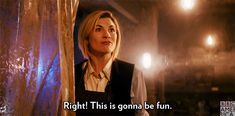 Trending GIF happy fun excited doctor who dw bbc america sdcc comiccon Doctor Who Funny, Doctor Who Quotes, Who 13, Dr Who, 13th Doctor, Doctor 13, Doctor Who Rose, New Doctor Who, Eleventh Doctor