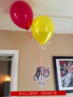 Balloon Zombie Decoration. Plants vs Zombies Birthday Party Ideas.