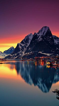 Stunning colours of a sunset in northern Norway.