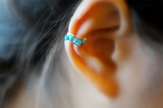 Simple Tiny Beads Ear Cuff by ForYourEar on Etsy  for $5