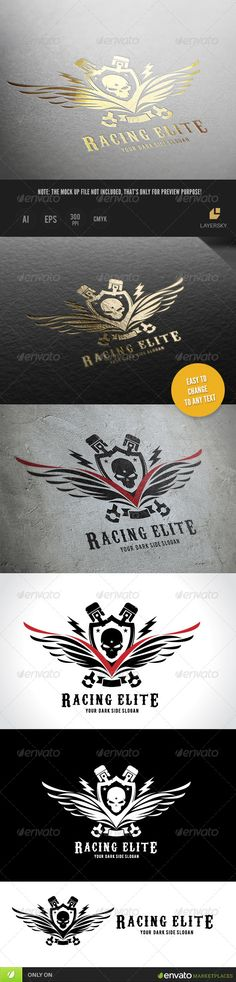 Racing Elite Logo Template #design #logotype Download: http://graphicriver.net/item/racing-elite/8566327?ref=ksioks
