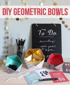 The Craft Patch: DIY Geometric Bowls
