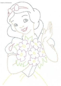 The Latest Trend in Embroidery – Embroidery on Paper - Embroidery Patterns Disney String Art, Nail String Art, String Art Templates, String Art Patterns, Paper Embroidery, Embroidery Patterns, Pattern Paper, Pattern Art, Drawing For Kids